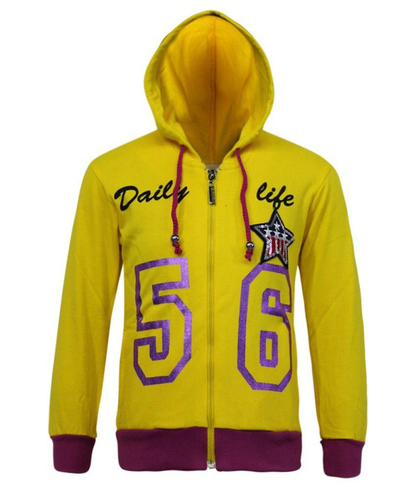 Kothari Yellow Fleece Sweatshirt With Hood