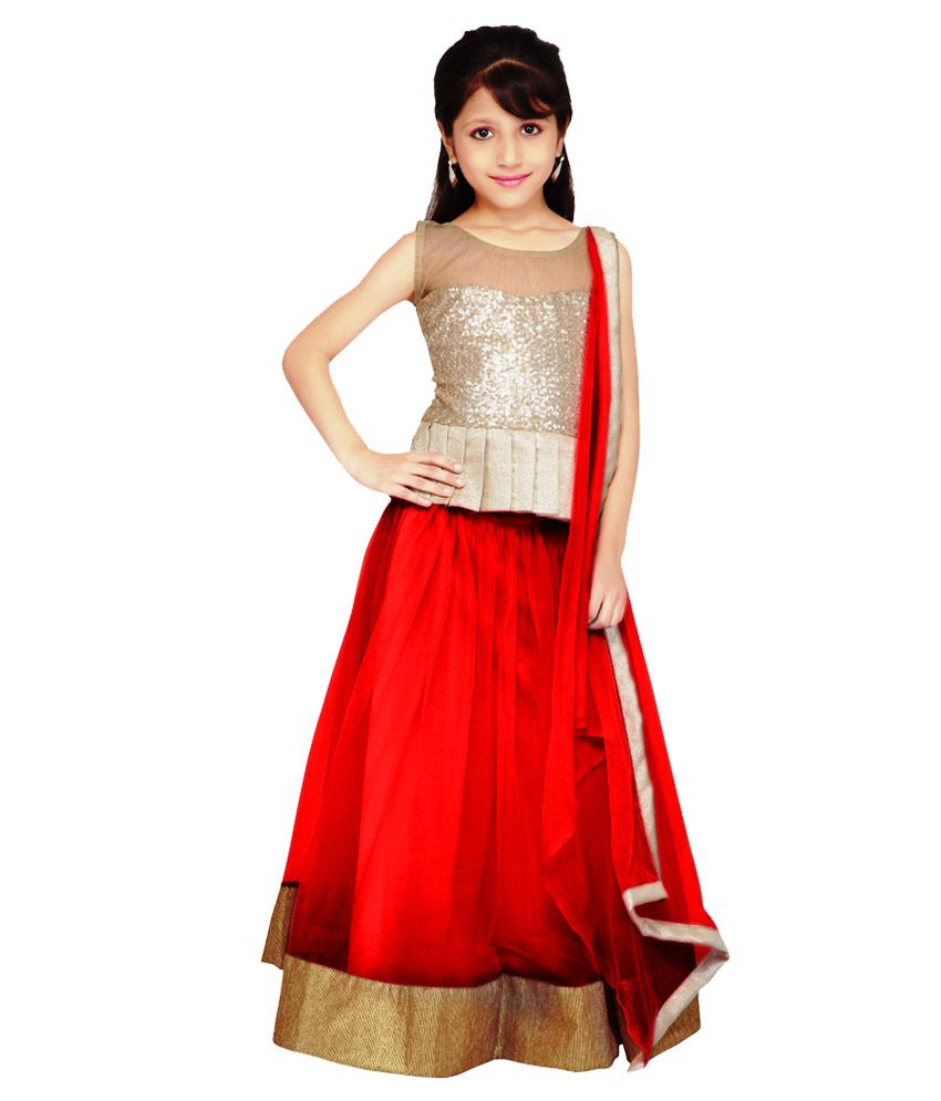 Najara Fashion Red Net Lehenga Choli - Buy Najara Fashion ...