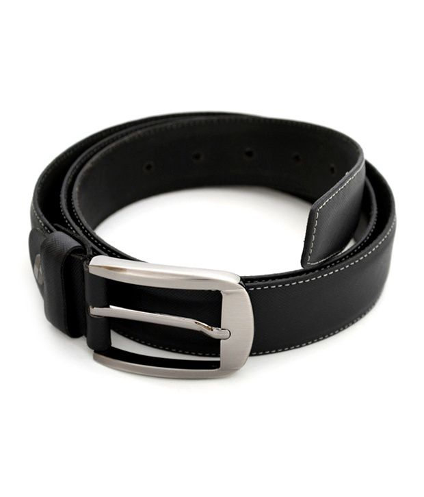 Urban Diseno Black Leather Belt For Men