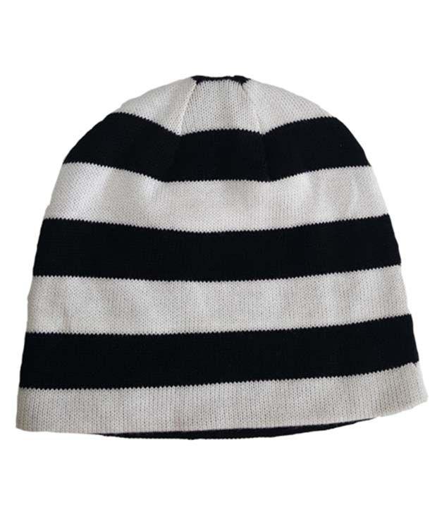Adidas White   Black Woollen Beanies Cap - Buy Online   Rs.  ec1a16d37d0