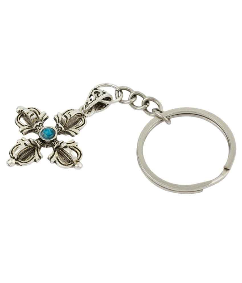 Lata Edge Phurba Dragger Metal Key Chain With Ball Chain & Key Ring