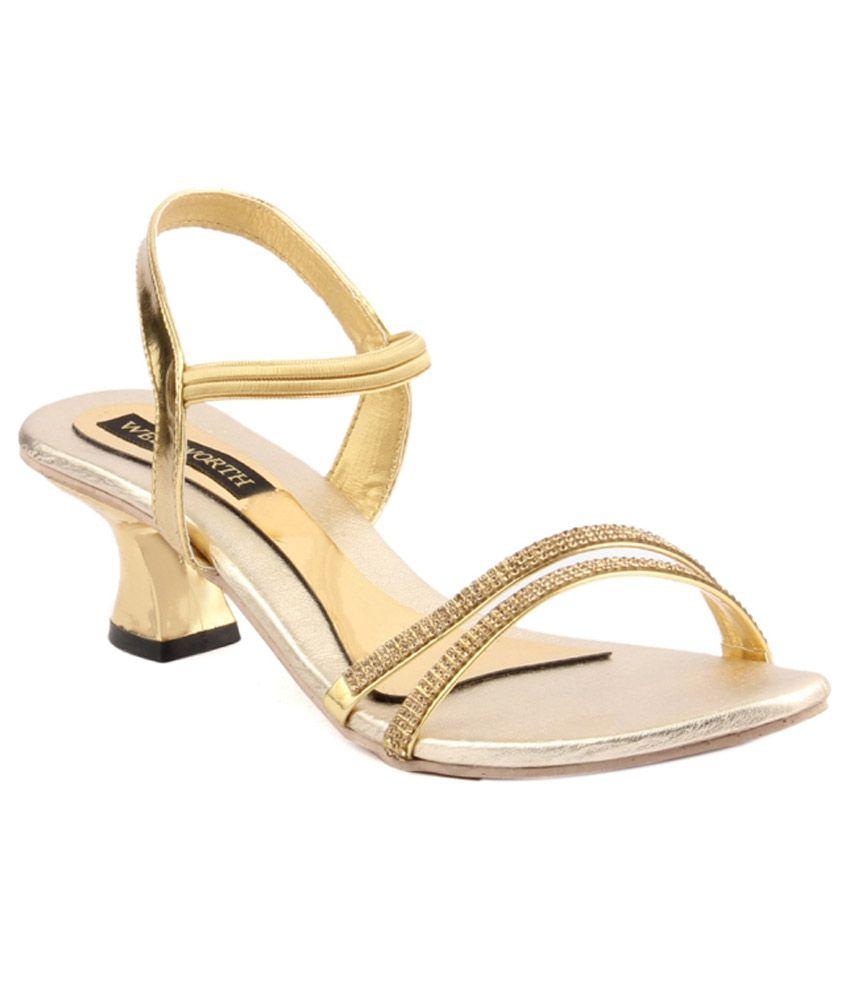 Wellworth Golden Heel Sandels