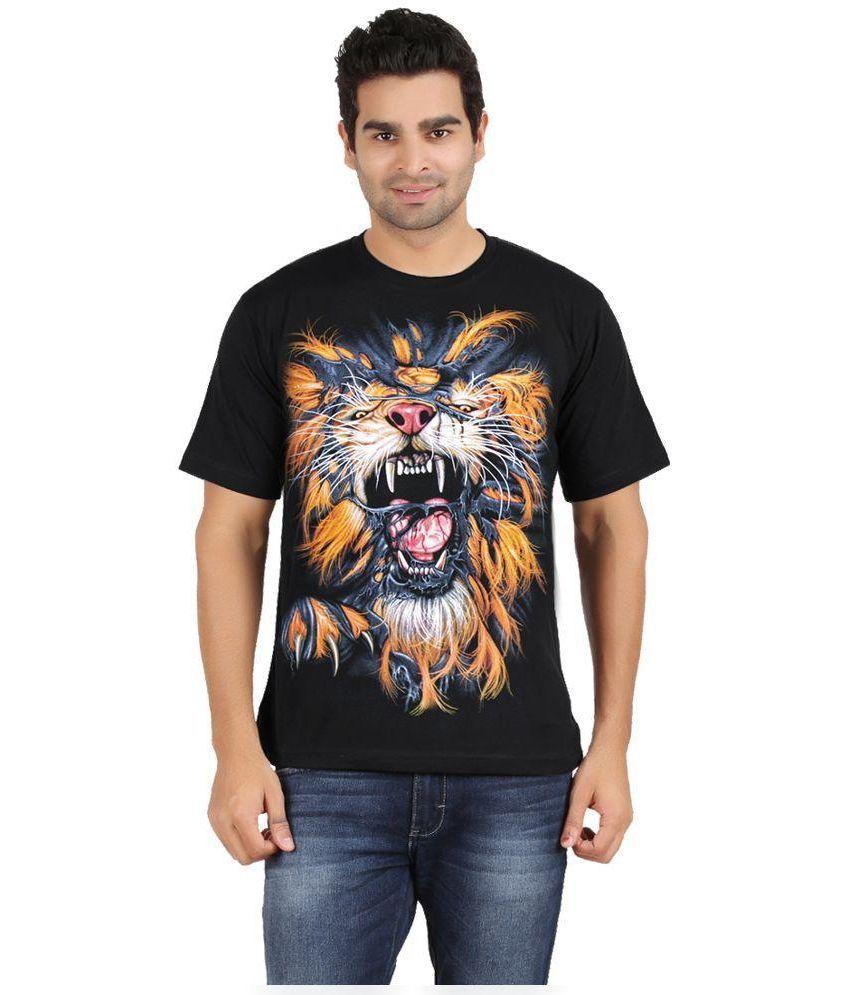 Avenster Black Ctton T-Shirt