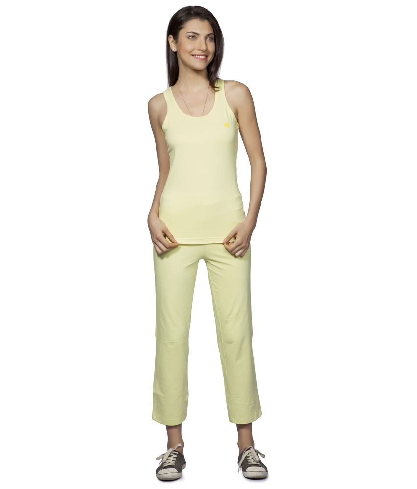 Douspeakgreen Yellow Uttarkashi Organic Yoga Pants