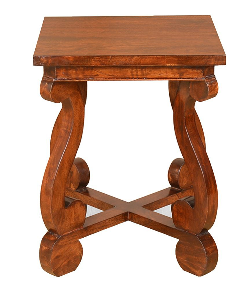 @Home Adorn Solid Wood Side Table