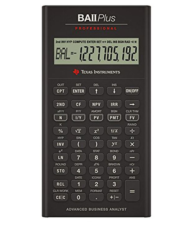 Texas Instruments Ba Ii Professional Financial Calculator Buy