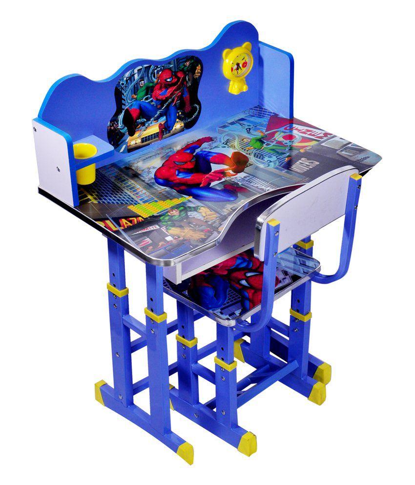 Wood Wizard Spiderman Kids Study Table Set - Buy Wood Wizard ...