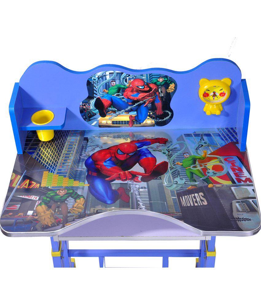 Wood Wizard Spiderman Kids Study Table Set Buy Luggage Tag Kotak