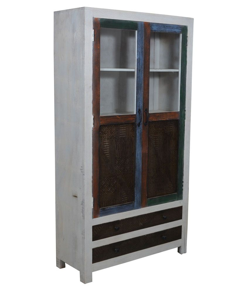 Shekhawati Solid Wood 2 Door Almirah