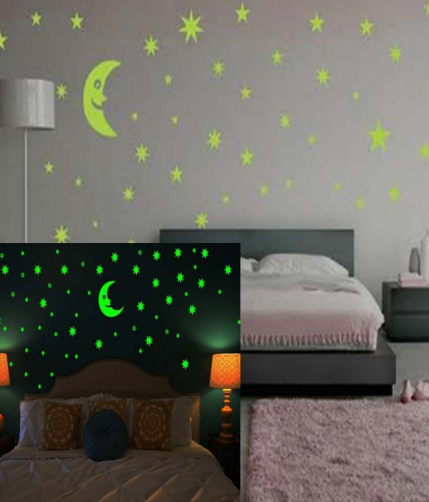 Wow Interiors And Decors Ceiling Glowing Star Wall Sticker