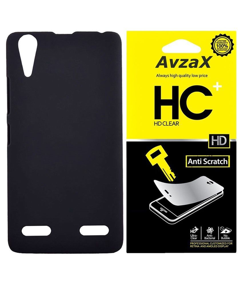 Avzax Back Cover For Samsung Galaxy Core Prime G360-black With Screen Guard