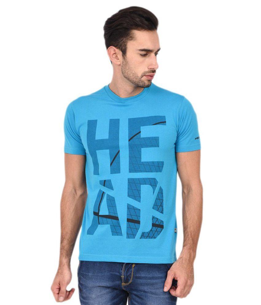 Head Blue Polyester T-shirt