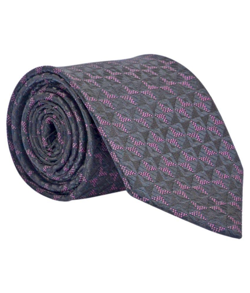 Calvadoss Brown And Maroon Formal Tie For Men