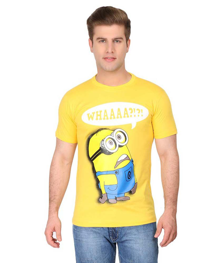 Counter Culture Yellow Cotton T-shirt