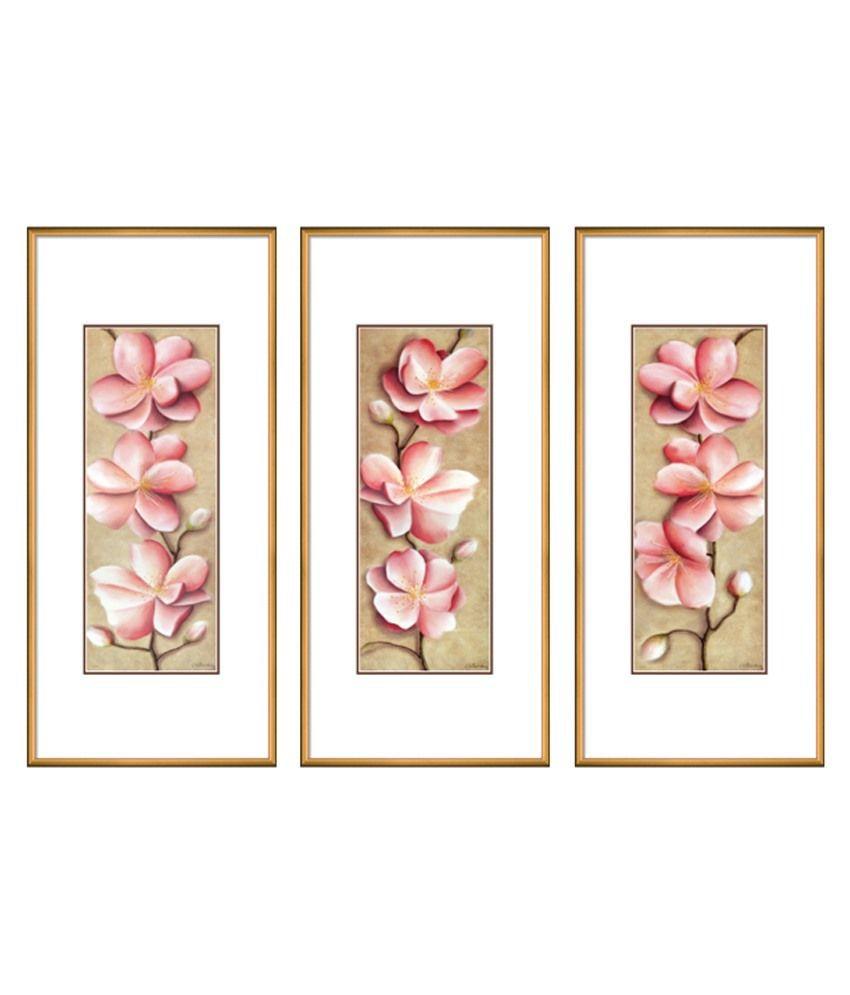 Elegant Arts & Frames Multicolour Framed Art Print Set Of 3
