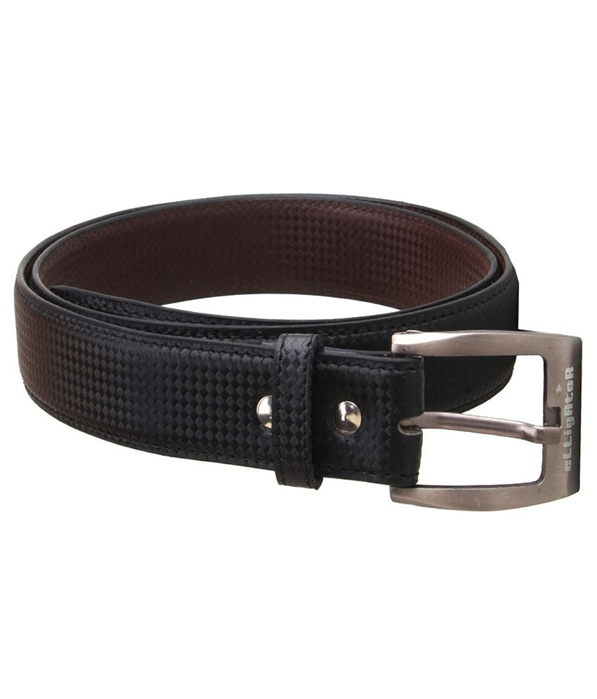 Elligator Black Casual Belt For Men