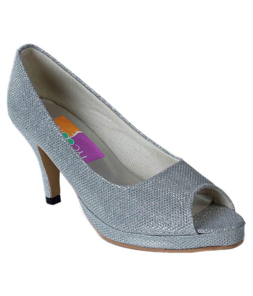 Tycoon Silver Stiletto Heels