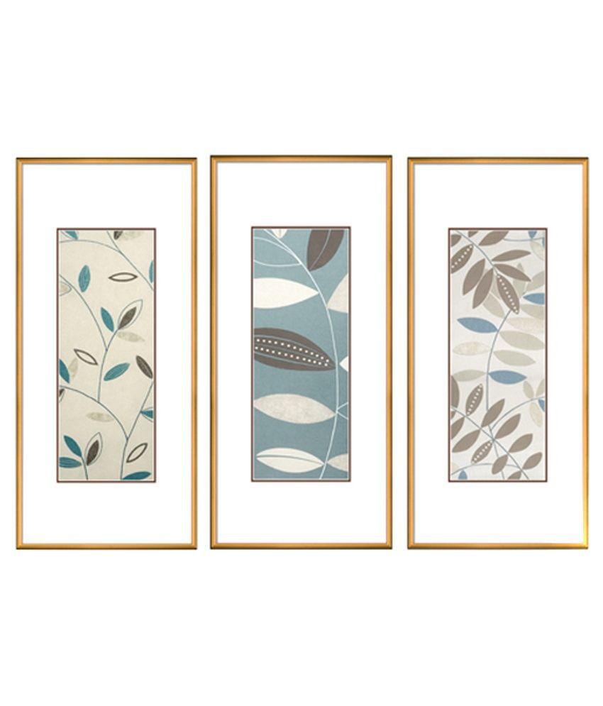 Elegant Arts & Frames Multicolour Art Print Set Of 3