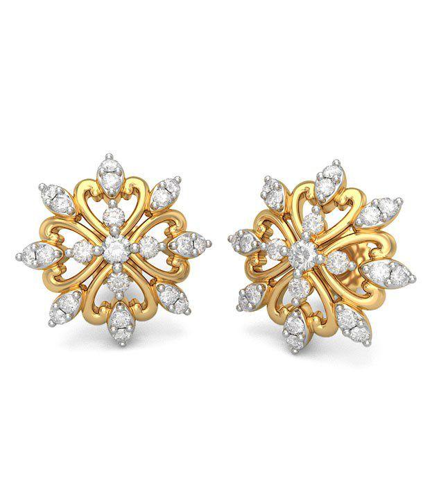 BlueStone 14K Yellow Gold Diamond Cole Earrings