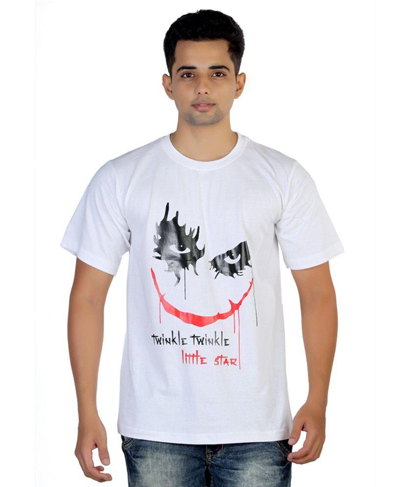 Brewink India White Cotton Blend T-shirt