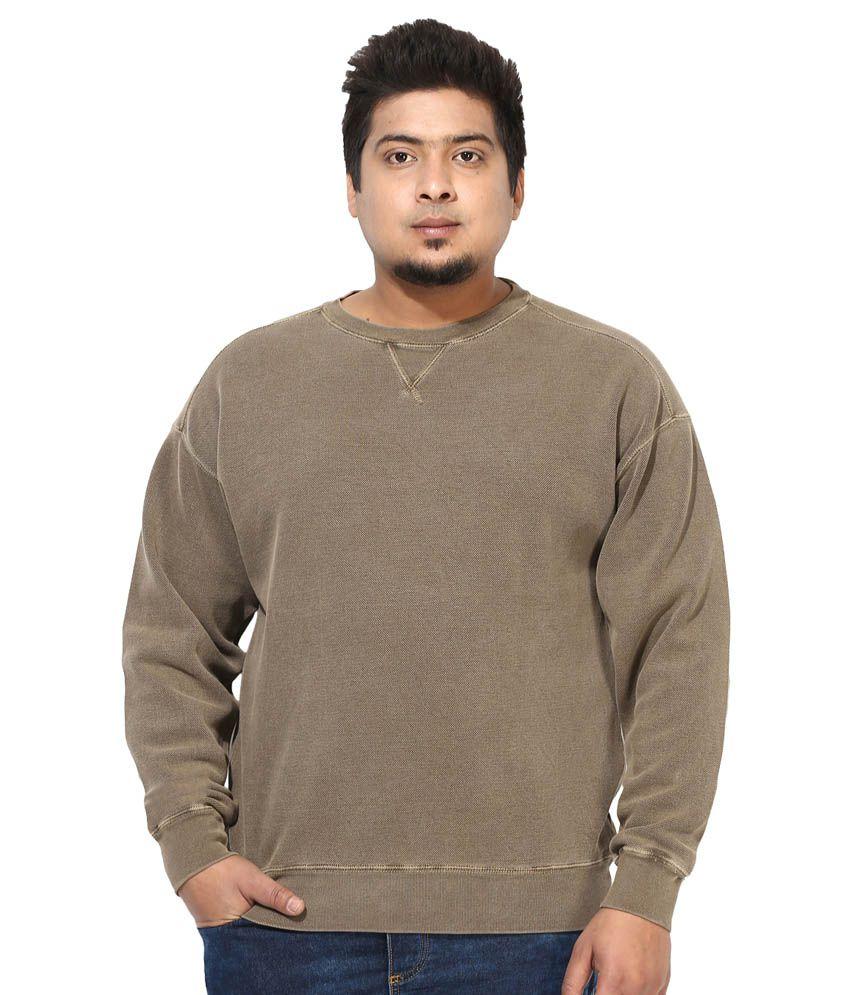 Grain Brown Cotton T-shirt