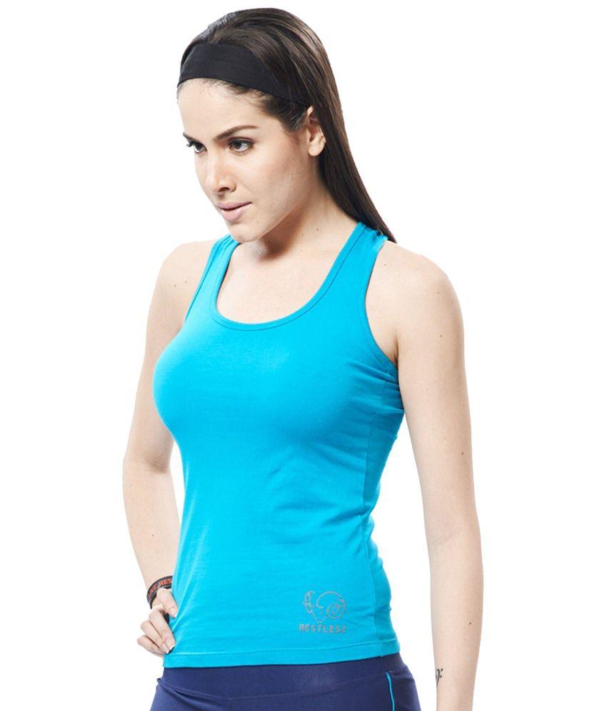 Restless Blue Stretchable Singlet