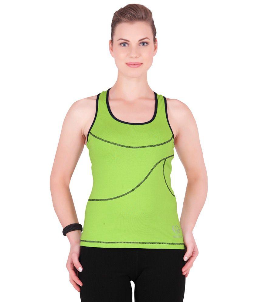 Restless Green Stretchable Singlet