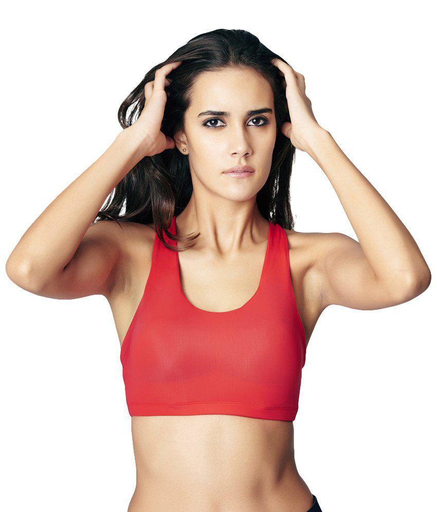 Restless Red Stretchable Sports Bra