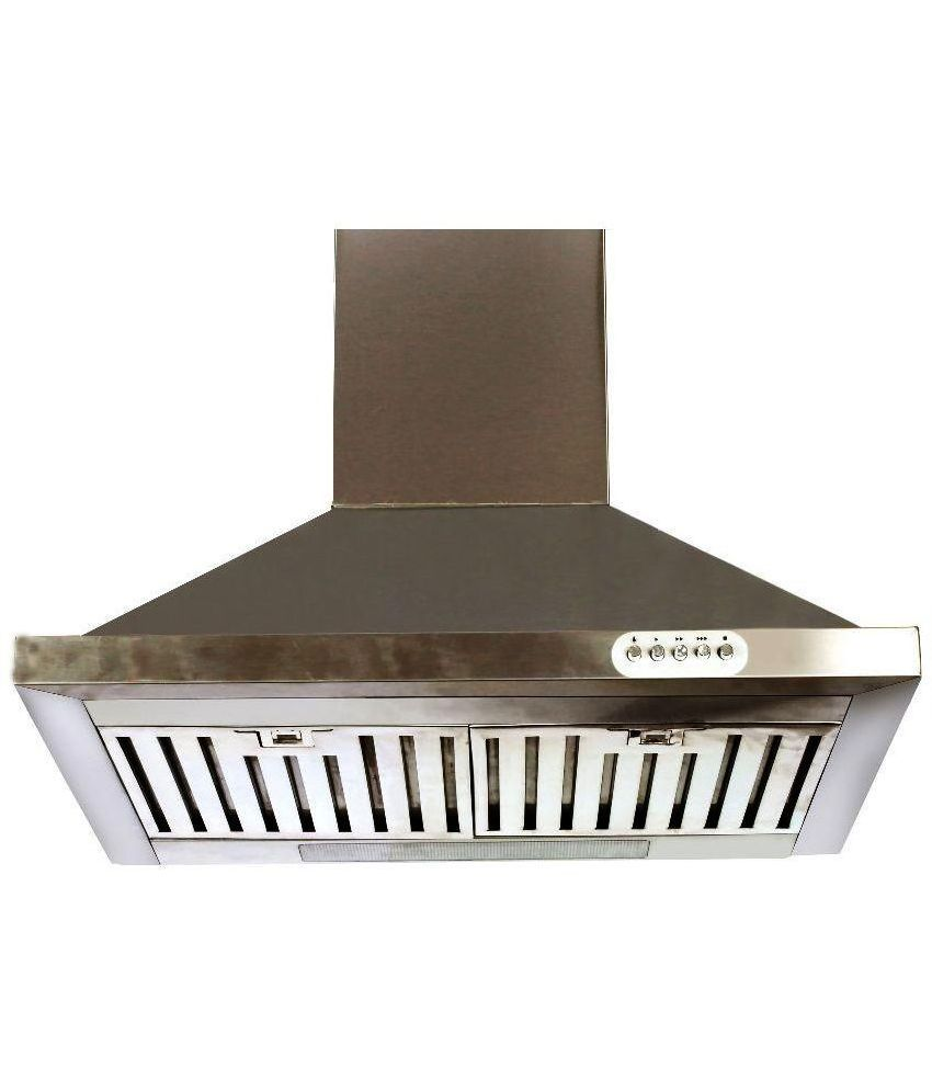 Brightflame Kitchen Chimney Lotus - Full Stainless Steel  1100 M3/Hr Suction 60 cm