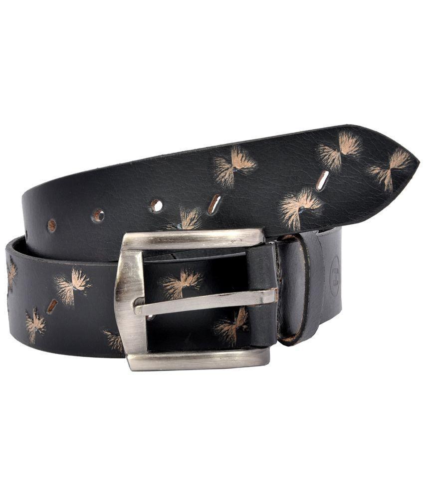 HI Black Pin Buckle Belt for Men