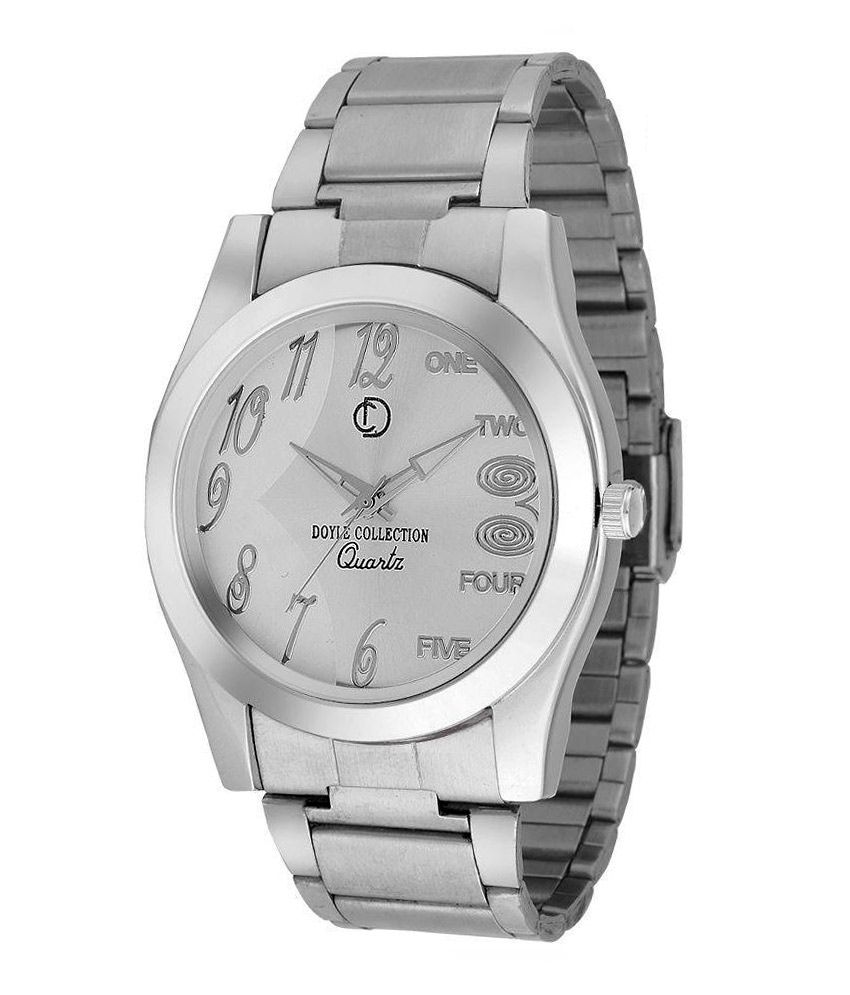 The Doyle Collection The Doyle Collection Silver Stainless Steel Analog Watch