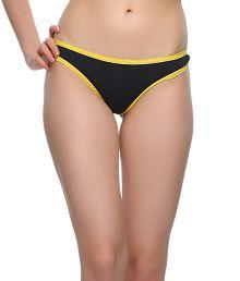 Clovia Black Polyamide With Spandex Panties