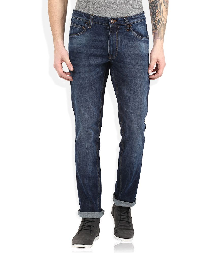 Color Plus Blue Dark Wash Slim Fit Jeans
