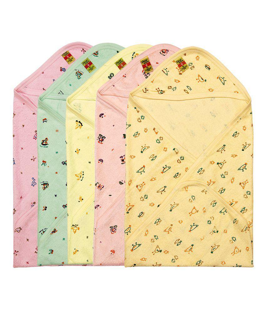 Dear Kids Multi-Colour Cotton Baby Wrap cum blanket ( 30 cm × 36 cm - 1 pcs)