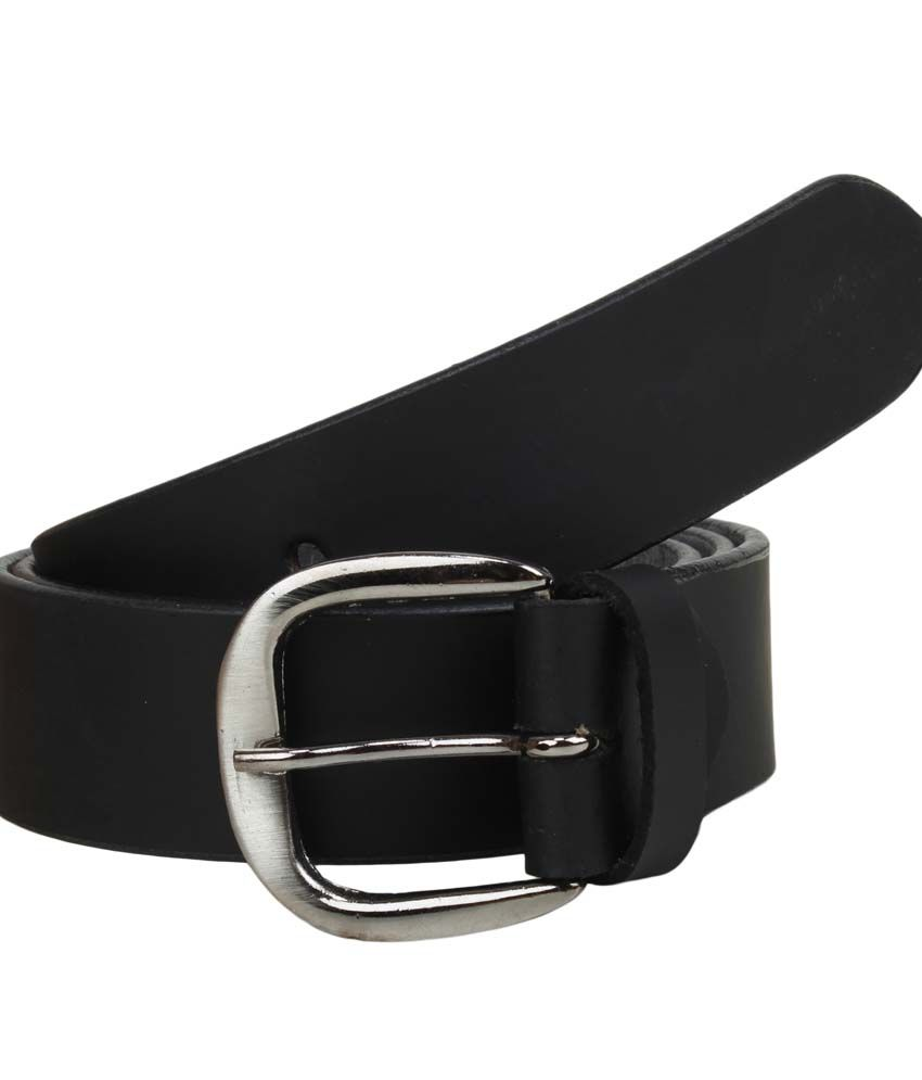 Mauri Black Leather Formal Belt