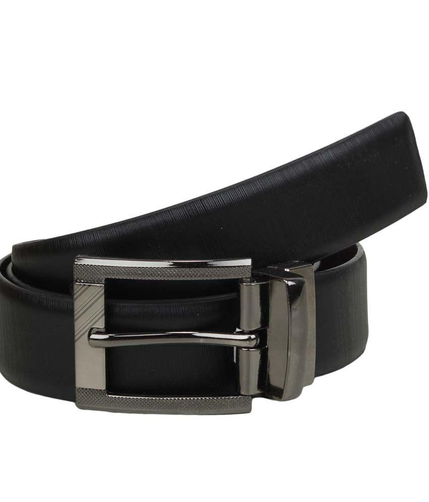 Mauri Black Leather Formal Belt