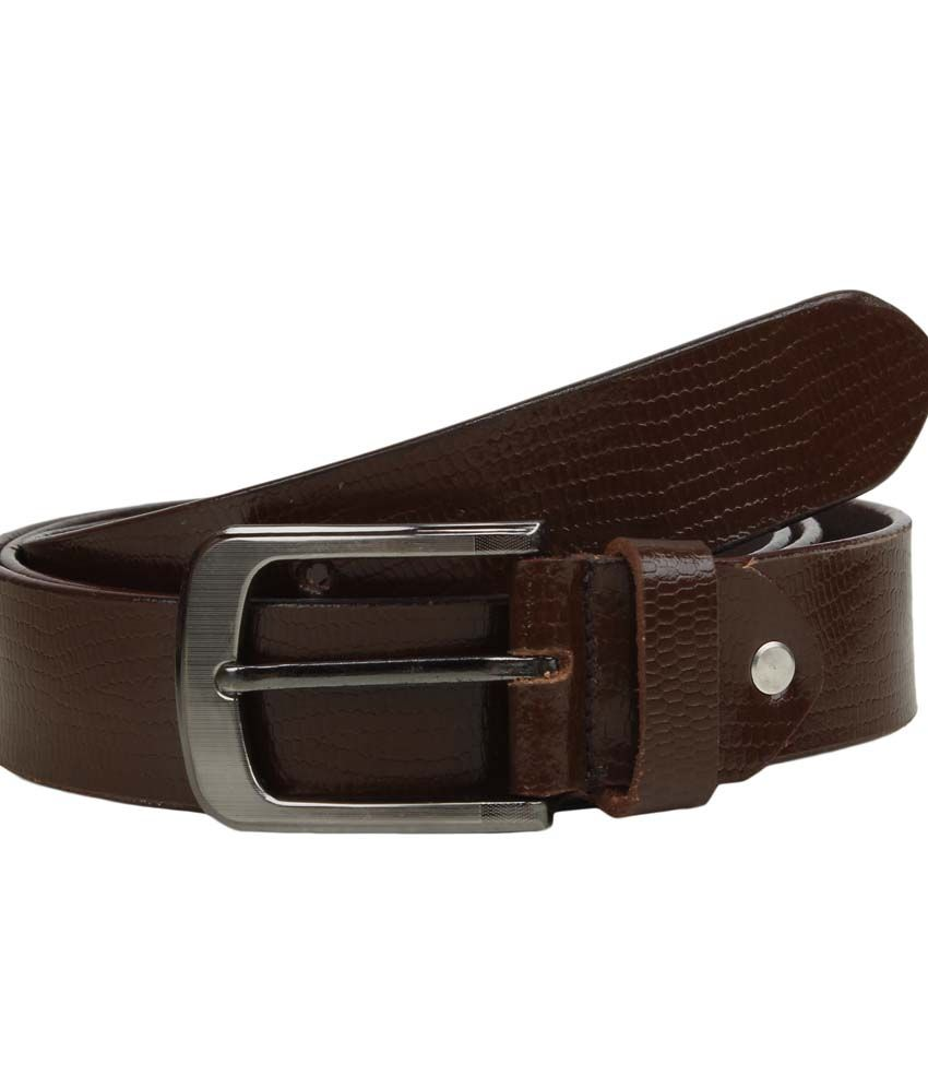 Mauri Brown Leather Formal Belt