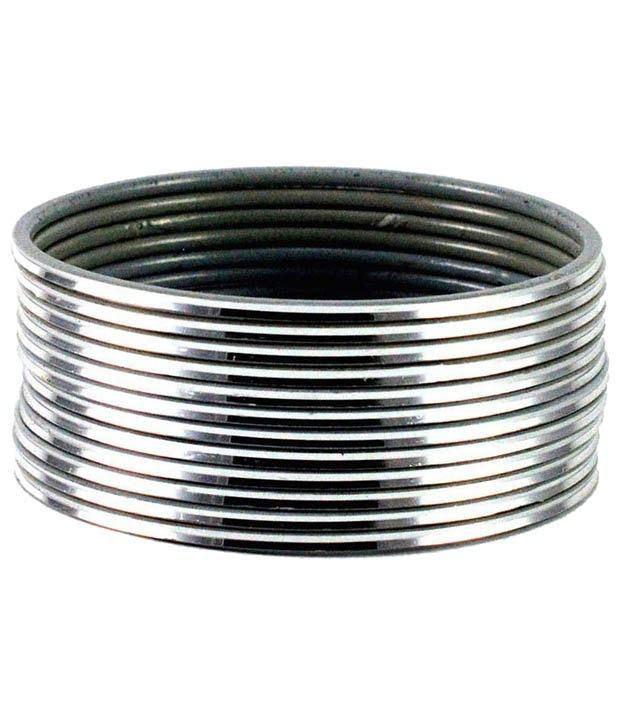 Sardar Jewellers Silver Bangle Set - 1 Dozen