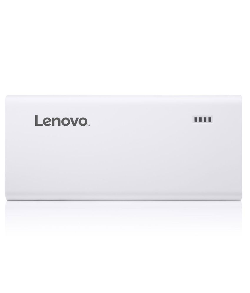 Lenovo PA10400 10400 mAh Power Bank - White - for iOS and Android Devices