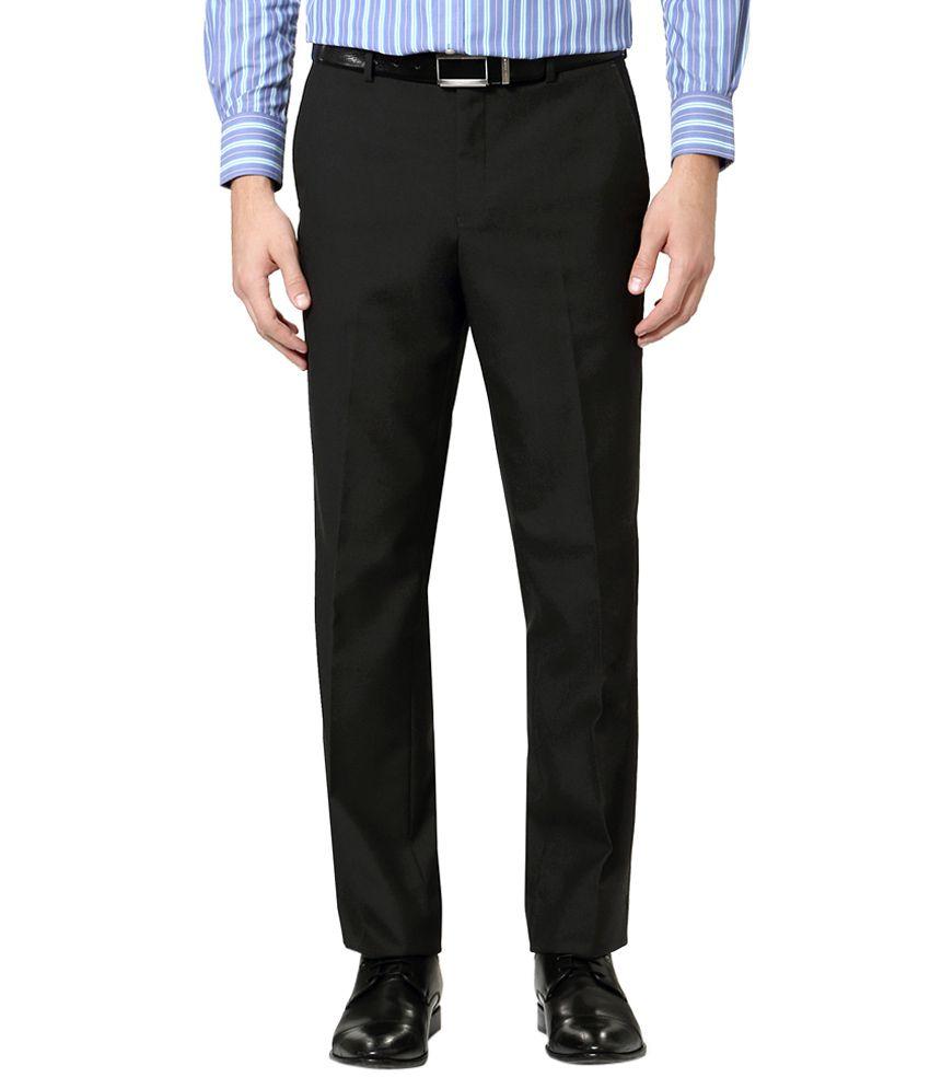 Van Heusen Black Regular Fit Trousers