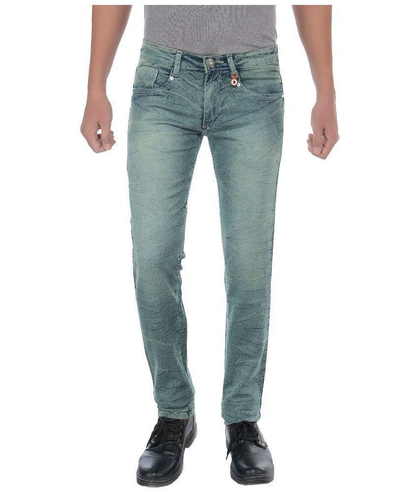 Frenzy Green Slim Fit Jeans