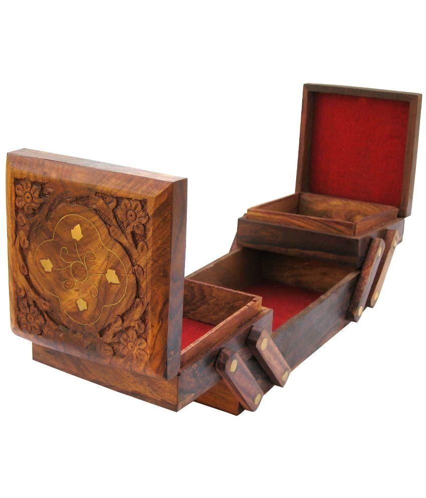 Zitter Wooden Folding Jewellery Box in Sheesham
