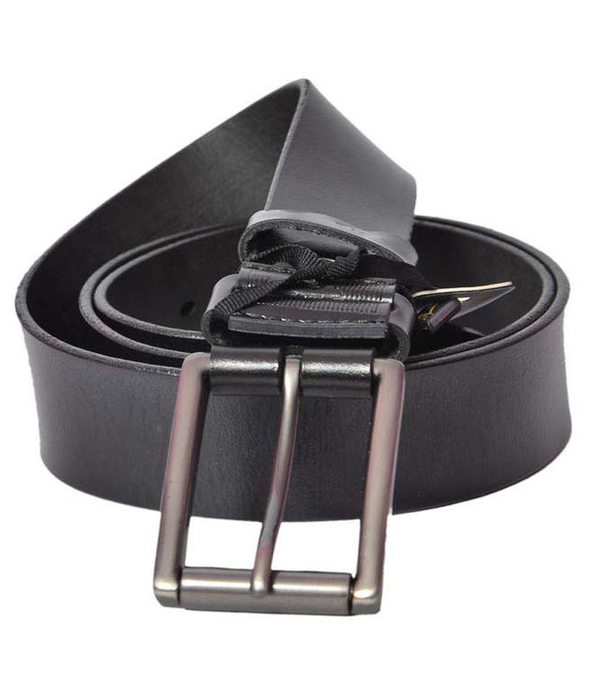 Ipg Black Leather Belt For Men