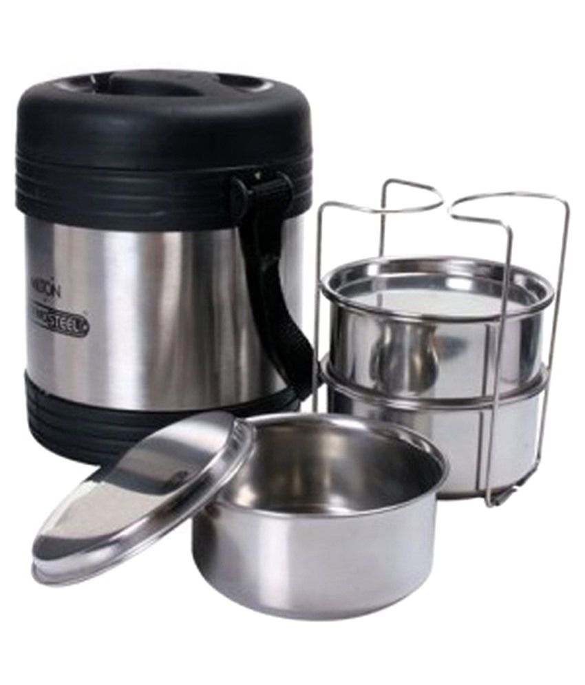 milton thermosteel legend tiffin 3 container stainless steel lunch rh snapdeal com
