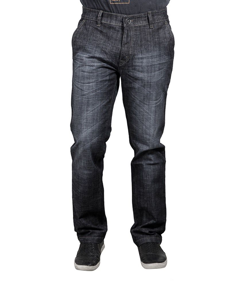 Yorky Black Regular Fit Jeans