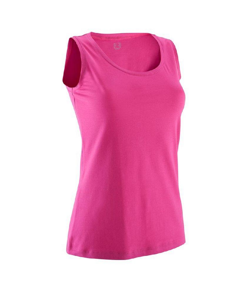 Domyos Basic Organic Sleeveless Bio T Shirt