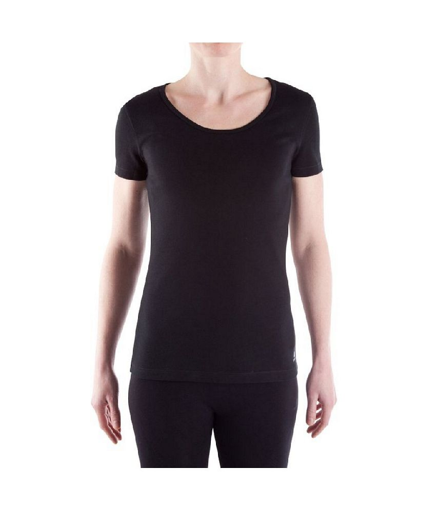 Domyos Yoga Short Sleeve Organic T-shirt Women