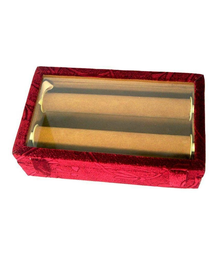 Jewel Shine 2 Rolls Red Plastic Bangles Box