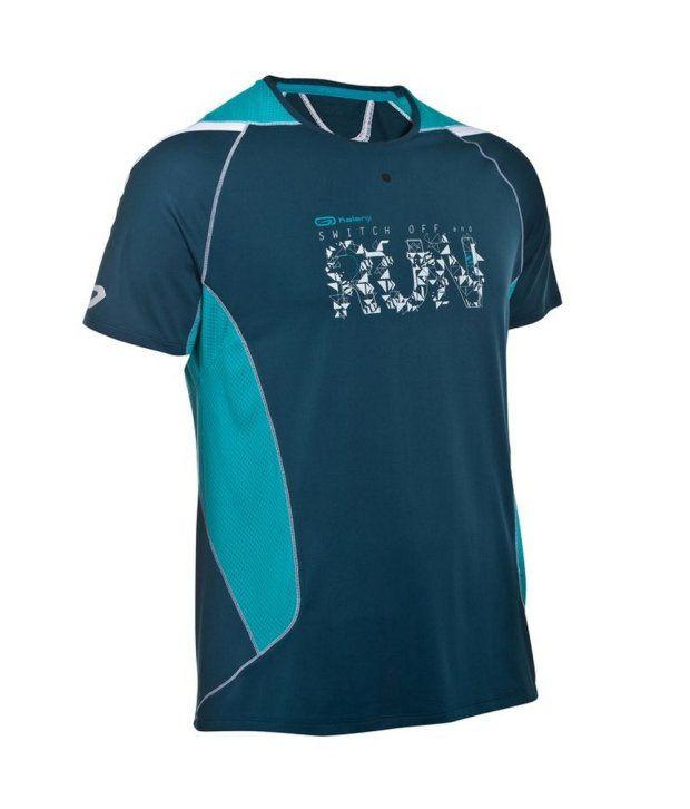Kalenji Blue Elio Men Running T-shirt Print