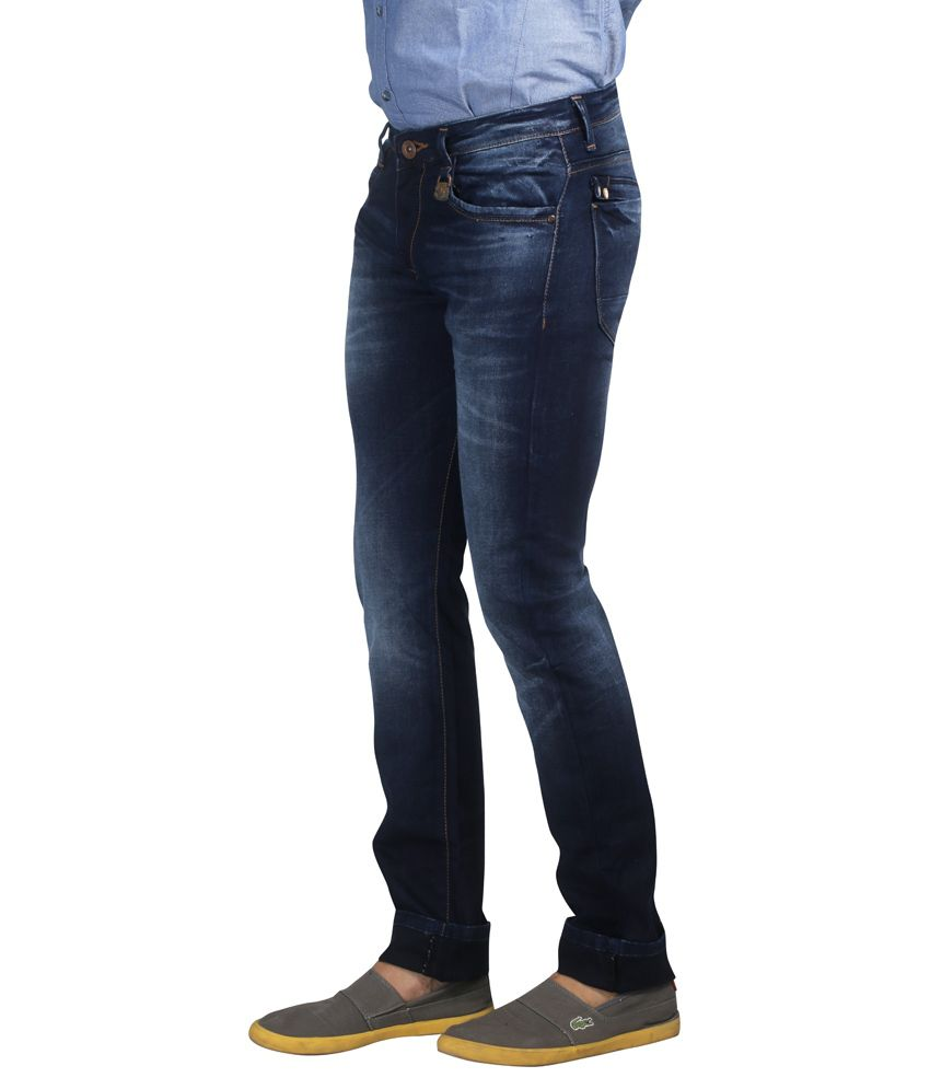 6210e912 Nostrum Jeans Navy Blue Slim Fit Jeans - Buy Nostrum Jeans Navy Blue Slim  Fit Jeans Online at Best Prices in India on Snapdeal